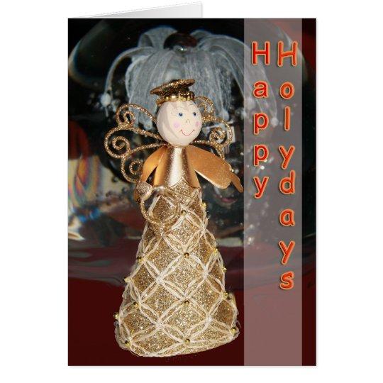 Happy Holidays angel card