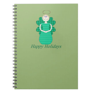 Happy Holidays Angel Spiral Note Book