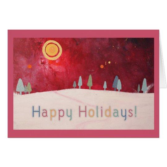 Happy Holidays Artwork Card