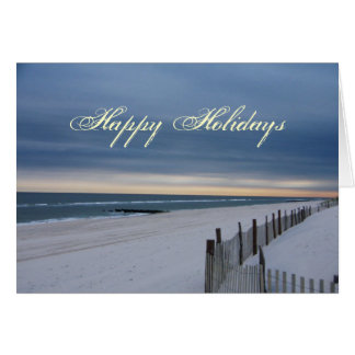 Happy Holidays Beach Card