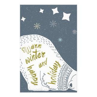 Happy Holidays Bear Stationery