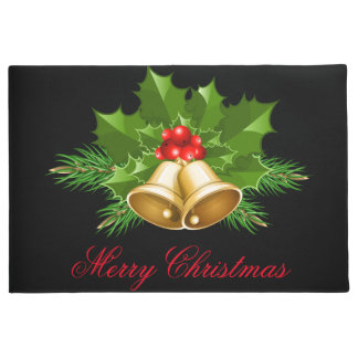 Happy Holidays Bells Door Mat