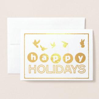 Happy Holidays Bird Card