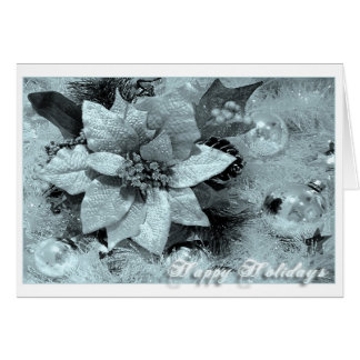 Happy Holidays-Blue and Silver Card