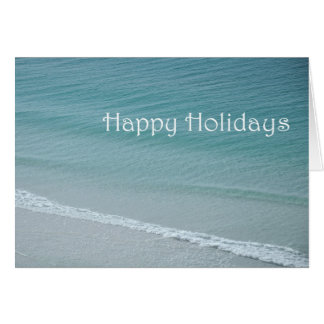 Happy Holidays Blue Water Card