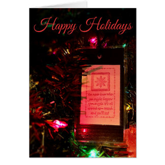 Happy Holidays Bookmark Ornament Card