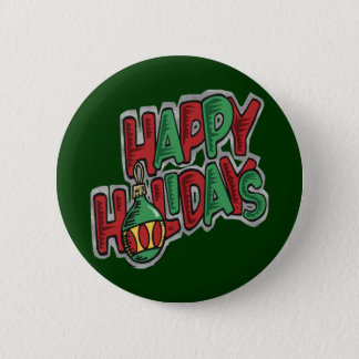 Happy Holidays - Button