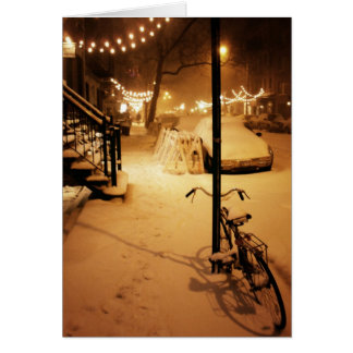 Happy Holidays Card - Winter Snowfall New York