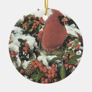 Happy Holidays Cardinal Christmas Ornament