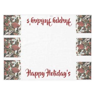 Happy Holiday's Cardinal Tablecloth