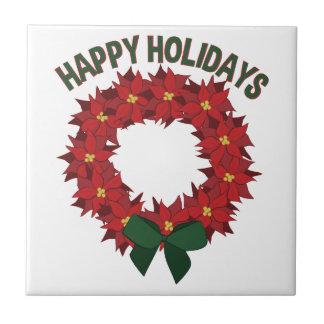 Happy Holidays Ceramic Tiles