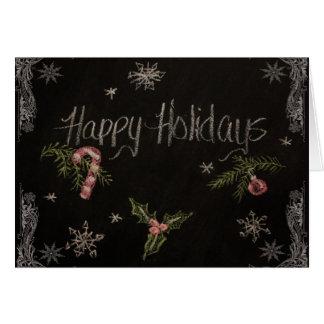 Happy Holidays Chalkboard Card