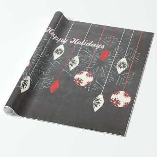 Happy Holidays Chalkboard Christmas Wrapping Paper