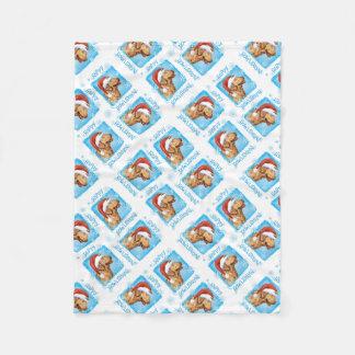 Happy Holidays  Chessie Fleece Blanket