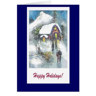 Happy Holidays Christmas church note card
