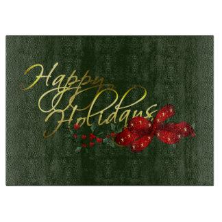 Happy Holidays Christmas Cutting Board