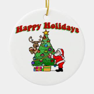 Happy Holidays Christmas Decorating Ornaments