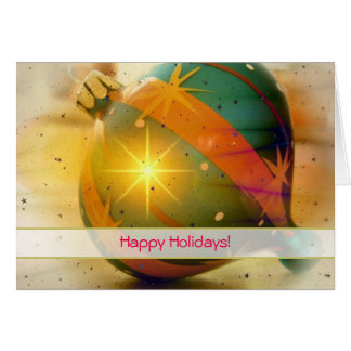 Happy Holidays Christmas Decoration Note Card