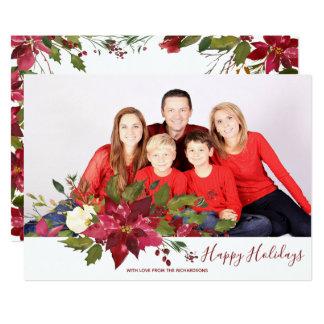 happy holidays christmas holiday photo card