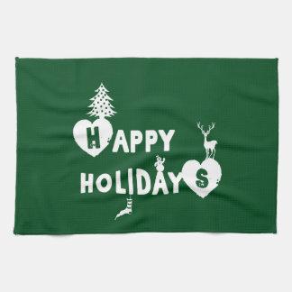 Happy Holidays Christmas Kitchen Towel