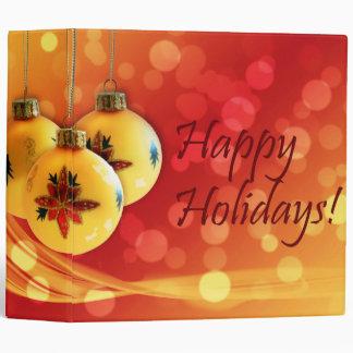 Happy Holidays Christmas Ornaments 3 Ring Binder