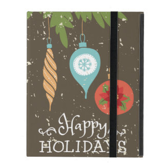 Happy Holidays Christmas Ornaments Decorative iPad Case
