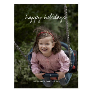 Happy Holidays Christmas Photo Holiday Custom kids Postcard