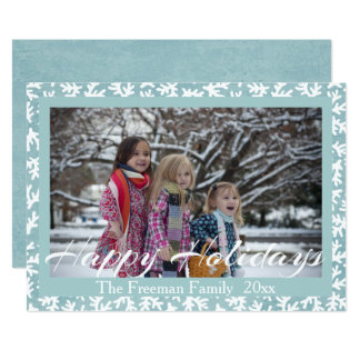 "'Happy Holidays"" Christmas Photo Insert Card"
