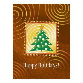 Happy Holidays - Christmas Postcard
