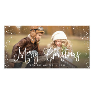 Happy Holidays Christmas Snow Card