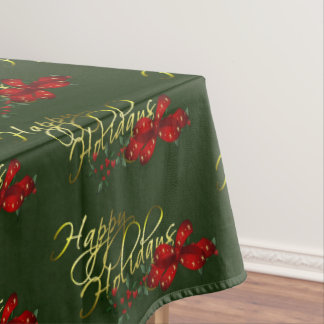 Happy Holidays Christmas Tablecloth