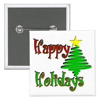 Happy Holidays Christmas Tree Pins