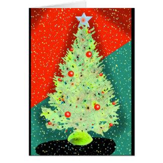 HAPPY HOLIDAYS CHRISTMAS TREE by Slipperywindow Card