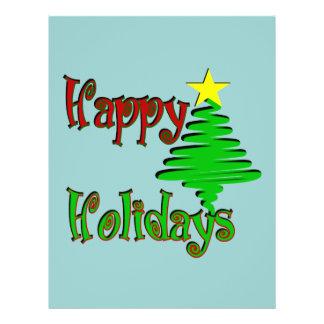 Happy Holidays Christmas Tree Flyers