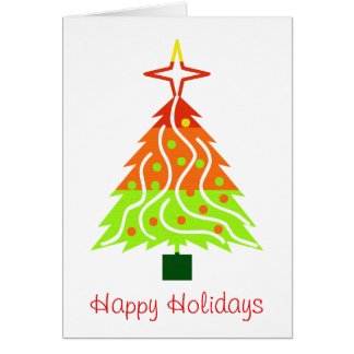 Happy Holidays Christmas Tree Greeting Card