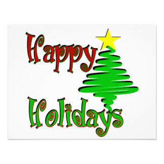 Happy Holidays Christmas Tree Custom Invites