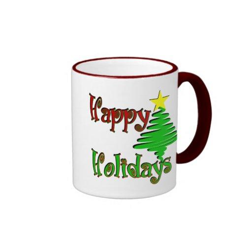 Happy Holidays Christmas Tree Mug