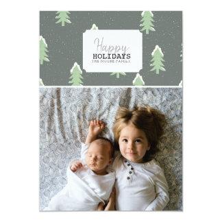 Happy Holidays   Christmas Tree Photo Card