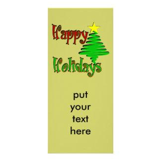Happy Holidays Christmas Tree Rack Card