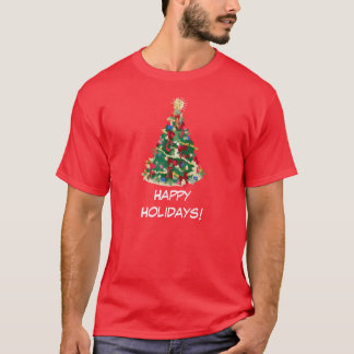 Happy Holidays: Christmas Tree: T-Shirt