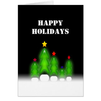 Happy Holidays Christmas Trees Greeting Card