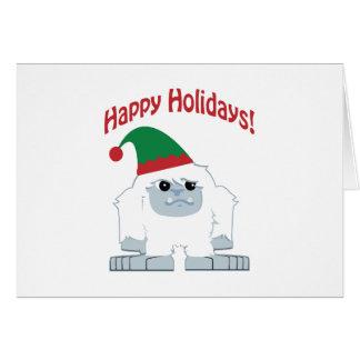 Happy Holidays! Christmas Yeti Card