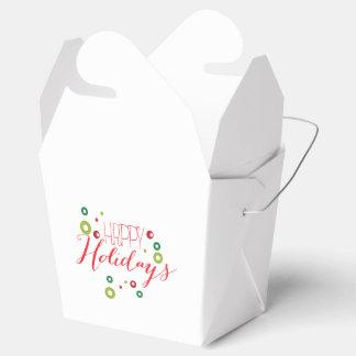 Happy Holidays Circle Box Party Favor Boxes