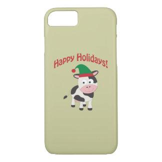 Happy Holidays! Cow Elf iPhone 7 Case