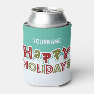 Happy Holidays custom drink coolers