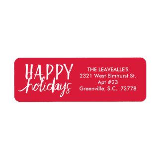 Happy Holidays   Custom Holiday Address Label