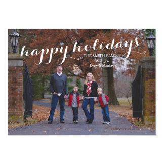 Happy Holidays Custom Photo Card