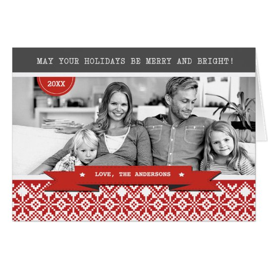 Happy Holidays. Custom Photo Christmas Cards