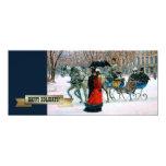 "Happy Holidays. Customizable Christmas Cards 4"" X 9.25"" Invitation Card"