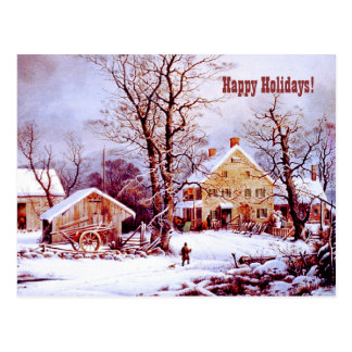 Happy Holidays. Customizable Christmas Cards Postcard